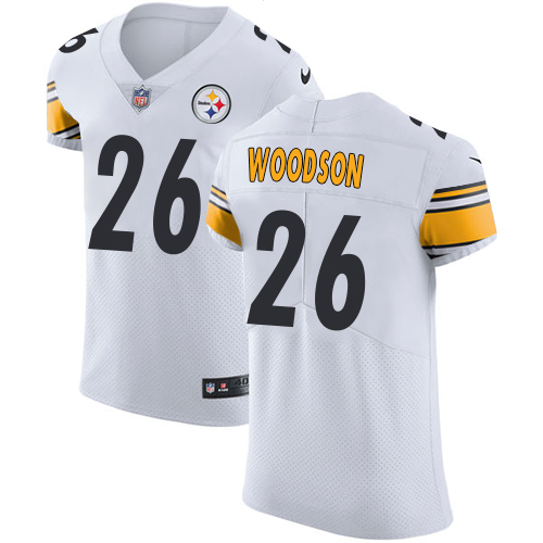 best sneakers 6c435 d8ce0 Nike Steelers #26 Rod Woodson White Men's Stitched NFL Vapor ...