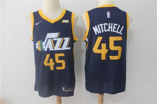 59be1ea95 Nike Utah Jazz  45 Donovan Mitchell Navy NBA Swingman Icon Edition Jersey