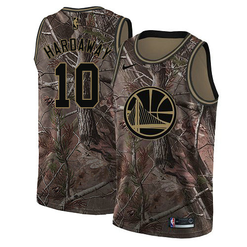 278778a97 Nike Warriors  10 Tim Hardaway Camo NBA Swingman Realtree Collection Jersey