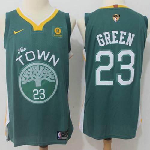 97e9e68c0 Nike Warriors  23 Draymond Green Green The Finals Patch NBA Authentic Jersey