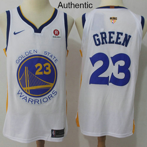 4917f2ea0 Nike Warriors  23 Draymond Green White The Finals Patch NBA Authentic  Association Edition Jersey