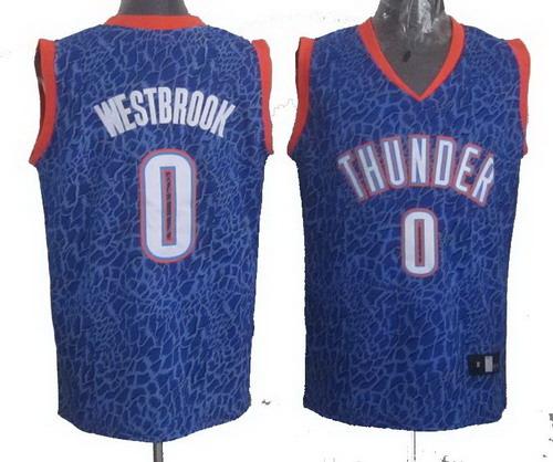 43ba22ddc Oklahoma City Thunder 0  Russell Westbrook Crazy Light Swingman Blue Jersey