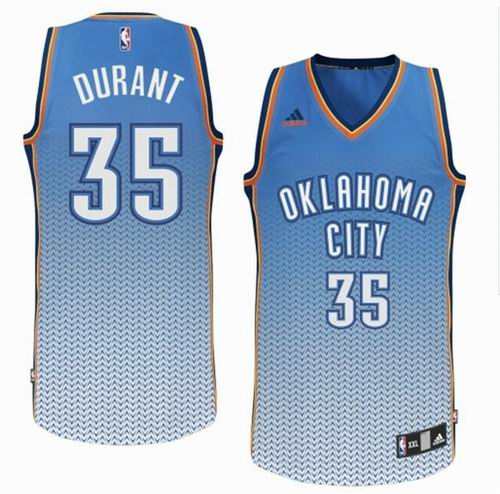 73742023e Oklahoma City Thunder 35  Kevin Durant Resonate Fashion Swingman Jersey -  Light Blue White