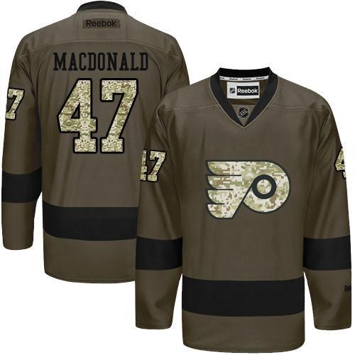 9fafb876ab5 Philadelphia Flyers 47 Andrew MacDonald Green Salute to Service NHL Jersey