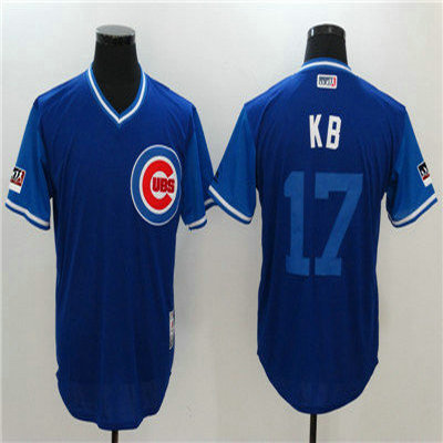 detailed look aa4eb c8c62 Cubs #17 Kris Bryant KB Royal 2018 Players Weekend Authentic ...