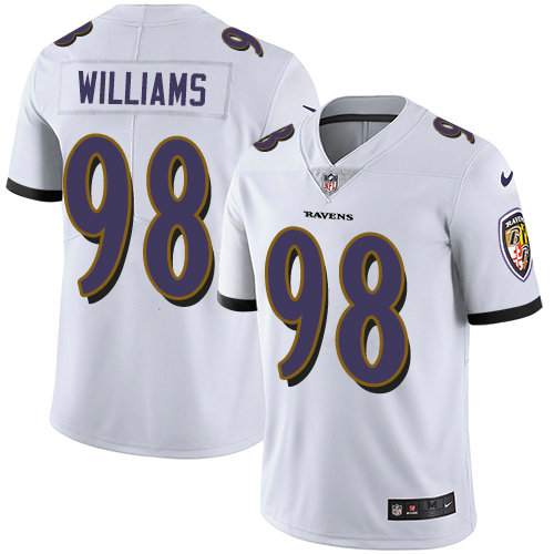 Ravens  98 Brandon Williams White Youth Stitched Football Vapor Untouchable Limited  Jersey bd9a684d2