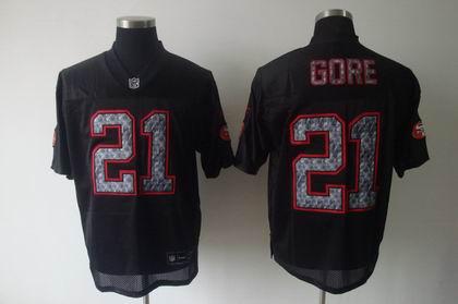 61bc12d1a San Francisco 49ers 21 Frank Gore Black United Sideline Jerseys