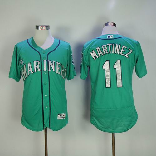 5a7dff6a6 ... purchase seattle mariners 11 edgar martinez green flexbase collection  jersey 48574 34a19
