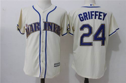 e3b0584b4 coupon for seattle mariners 24 ken griffey jr cream jersey 361b2 412c9