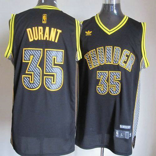 d0660ac61 Thunder  35 Kevin Durant Black Electricity Fashion Stitched NBA Jersey