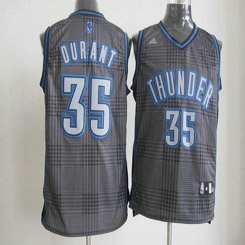 12d38feaa Thunder  35 Kevin Durant Black Rhythm Fashion Stitched NBA Jersey