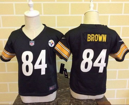 Toddler Nike Pittsburgh Steelers 84 Antonio Brown Black Team Color NFL Game  Jersey 7e00790a7