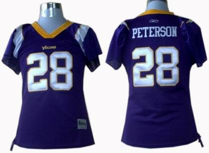 hot sales 5b619 e5f19 WOMEN Minnesota Vikings #28 Adrian Peterson jerseys pink