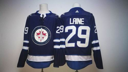 huge discount 53885 a52b3 Winnipeg Jets #29 Patrik Laine 2017-2018 season blue Jersey