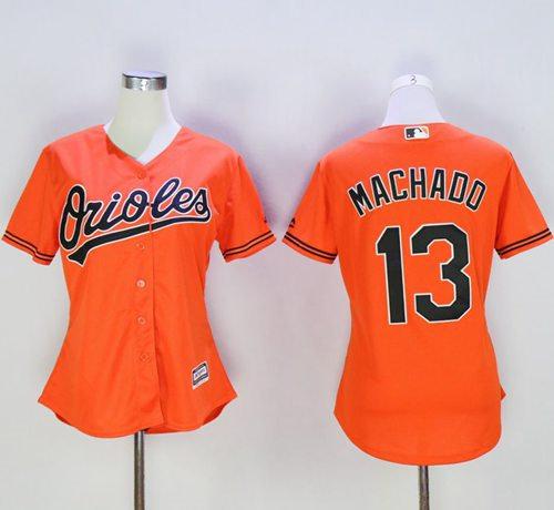 bd172909bd4 ... women baltimore orioles 13 manny machado orange alternate baseball  jersey
