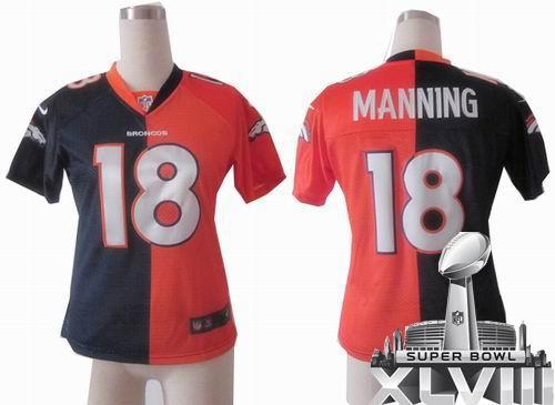 best website 50e80 8a680 Women Nike Denver Broncos 18# Peyton Manning Black Impact ...