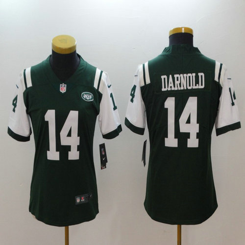 d669b3af8c2 Women Nike Jets  14 Sam Darnold Green Women Vapor Untouchable Player Limited  Jersey