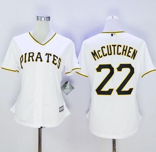 newest b1ed8 875c3 Women Pittsburgh Pirates 22 Andrew McCutchen White Fashion ...