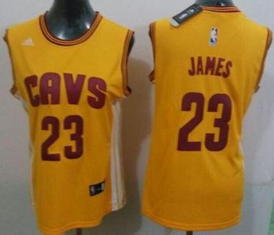 7fb3fbbb0 Womens Cleveland Cavaliers 23 LeBron James Gold Alternate NBA Jersey