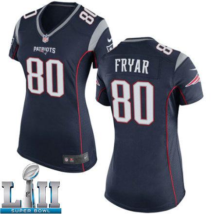 f6a58fc3e3f Womens Nike New England Patriots Super Bowl LII 80 Irving Fryar Game Navy  Blue Team Color