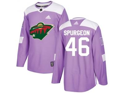 Youth Adidas Minnesota Wild  46 Jared Spurgeon Purple Authentic Fights  Cancer Stitched NHL Jersey 9587fe24f