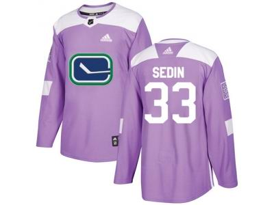 youth adidas vancouver canucks 33 henrik sedin purple authentic fights cancer stitched nhl jersey