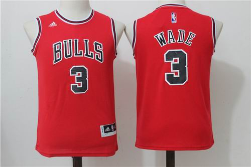 8984d67677ad Youth Chicago Bulls  3 Dwyane Wade Red Jersey2