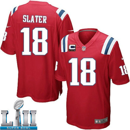 Youth Nike New England Patriots Super Bowl LII 18 Matthew Slater Elite Red  Alternate C Patch NFL Jersey 2135d57c0