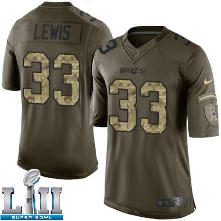 35359126ae1 Youth Nike New England Patriots Super Bowl LII 33 Dion Lewis Limited Green  Salute to Service