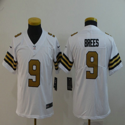 1aaf4b5ad62 ... uk ebay youth nike saints 9 drew brees white youth color rush limited  jersey 516d0 69e2a