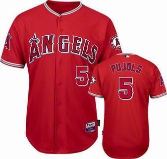 e41bd53e38b youth Los Angeles Angels 5  Albert Pujols red Cool Base Jersey